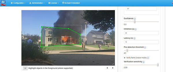 Smoke detection image