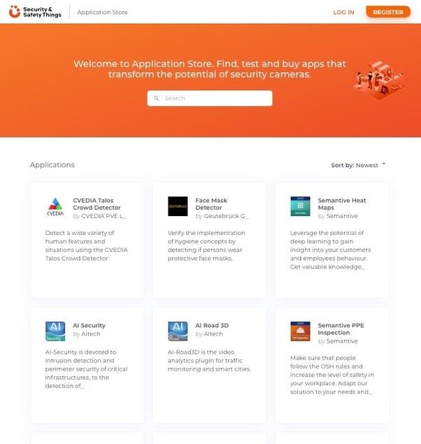 screenshot - application store