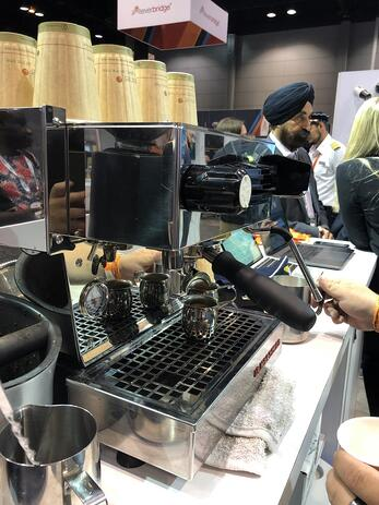 barista at sast booth