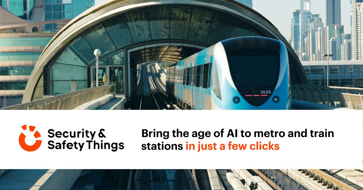 Bring the age of AI to metro and train stations in just a few clicks